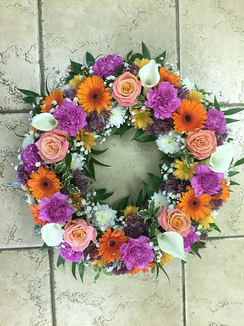 Mixed Wreath - No Name on Ribbon