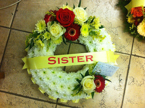 Wreaths  - with Name Ribbon