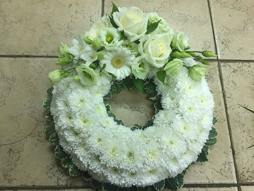 Based Wreath - No Name on Ribbon
