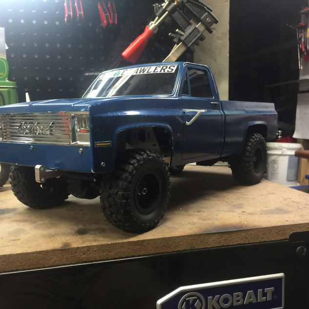 Highway 1 RC body on the Terramight chassis