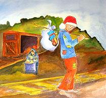 A Hobo Christmas - Watercolor 2009final.