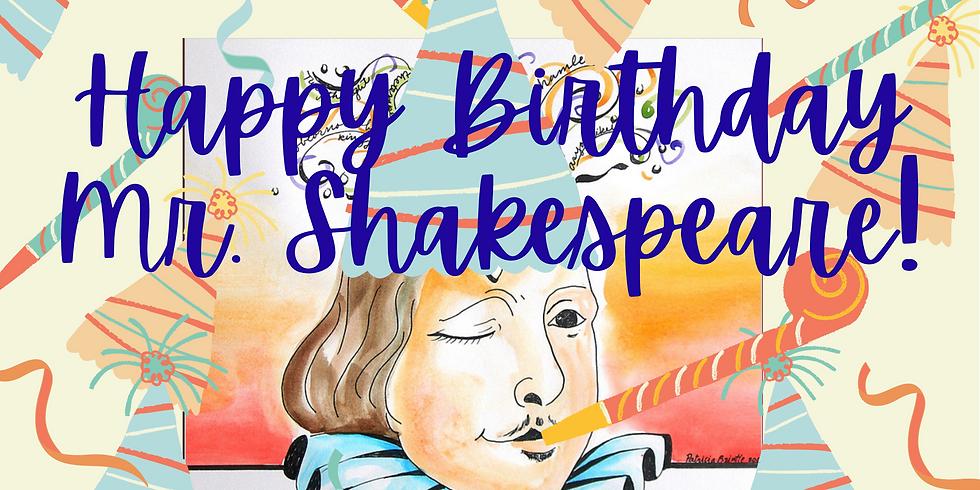 Shakespeare's Birthday Celebration  Grades 1-4 10:00 am