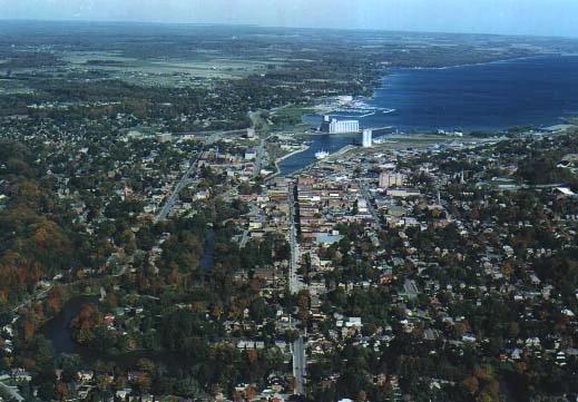 Aerial View of Owen Sound