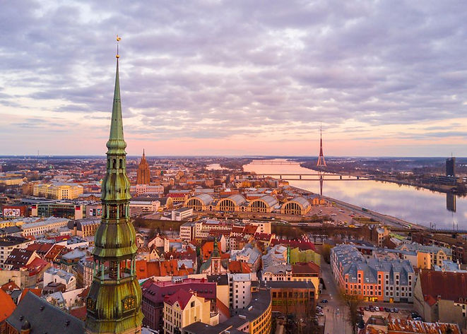 View-of-Riga-town-from-above-and-St.-Pet