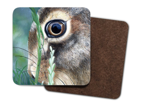4 Pack Hardboard Coaster with my 'Nut Brown Hare' Artwork