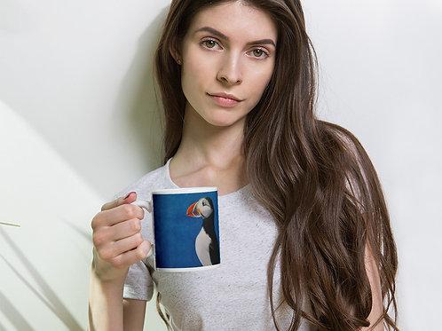 Mug with my original 'Puffin Stance' artwork
