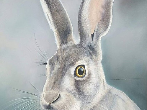 'Green hare' Print
