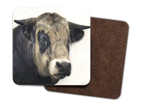 4 Pack Hardboard Coaster with my 'Guinness' the bull  Artwork