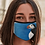 Thumbnail: Face Mask with my original artwork 'Puffin Stance'