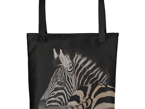 Tote bag with my original artwork 'Swish and flick'