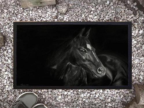 Doormat  with my original artwork Dark Horse