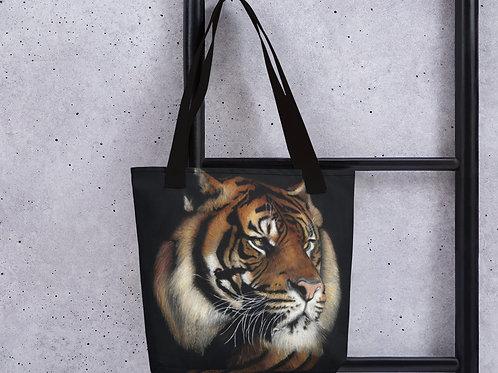 Tote bag with my original 'Rajah' Tiger artwork