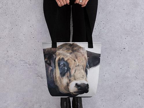 Tote bag with my original 'Guinness' the bull artwork