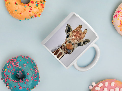 Mug with my artwork 'Cheeky Giraffe'