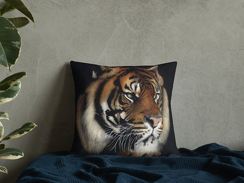 Premium Pillow with my original 'Tiger' Artwork