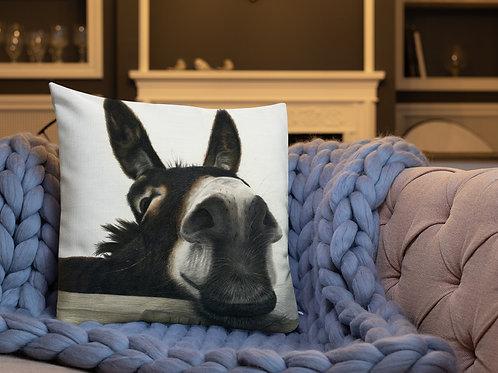 Premium Pillow with my original 'Hee Haw' Artwork