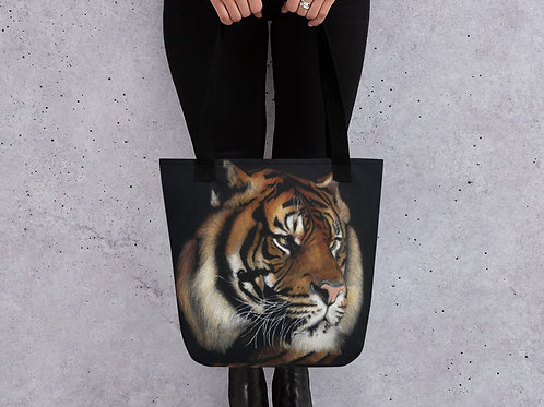 Tote bag with my original 'Rajah' Tiger artwork