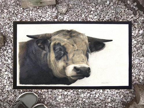 Doormat with my original 'Guinness' the bull artwork