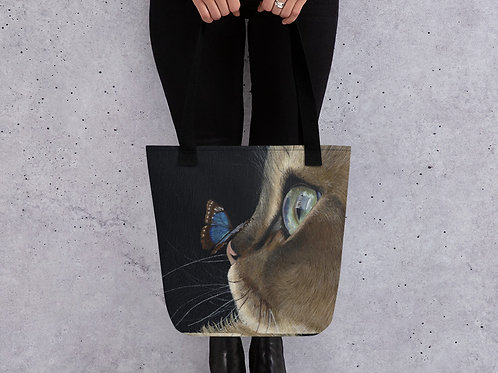 Tote bag with my original 'Sapphire and Emerald' artwork