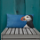 Thumbnail: Premium Pillow with my original artwork 'Puffin stance'