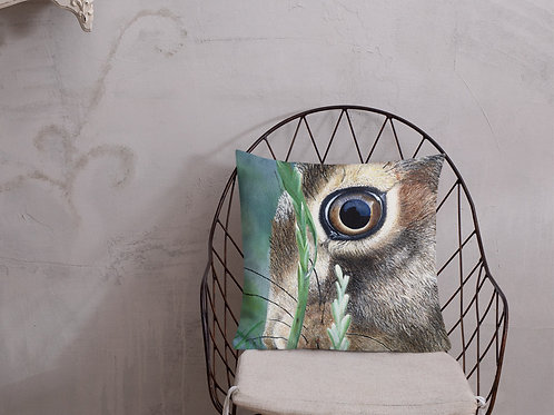 Premium Pillow with my original artwork 'Hare eye'