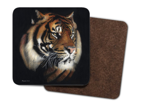 4 Pack Hardboard Coasters with my 'Tiger' Artwork