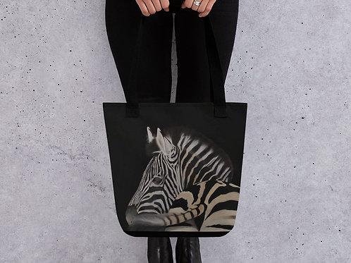 Tote bag with my original artwork 'Swish and flick'