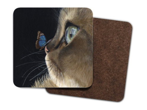 4 Pack Hardboard Coaster with my 'Sapphire and Emerald' Artwork