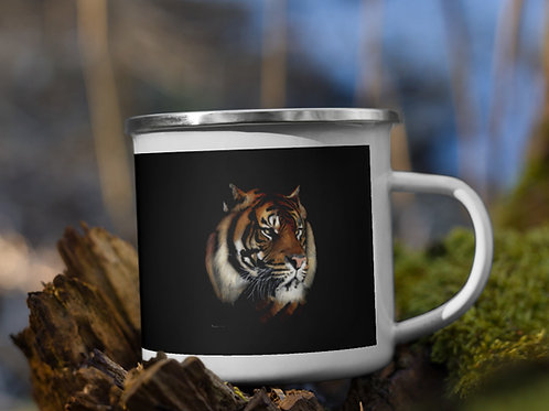 Enamel Mug with my original 'Rajah' tiger artwork
