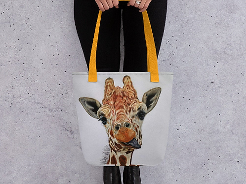 Shopping Tote bag with 'Cheeky Giraffe' artwork