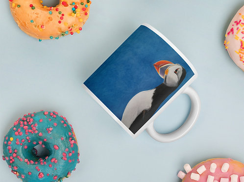 Mug with my original 'Puffin Stance' artwork
