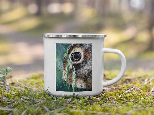 Enamel Mug with my original 'Nut Brown Hare' artwork