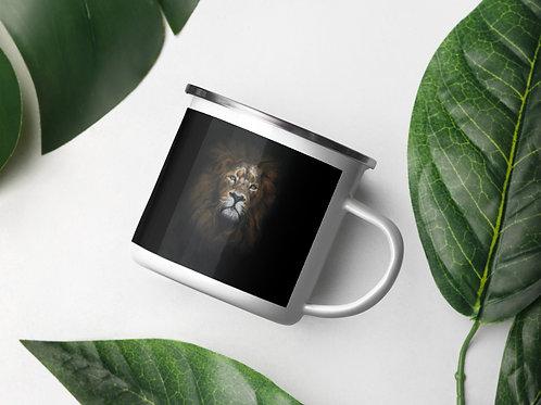 Enamel Mug with my original artwork 'Mufasa'