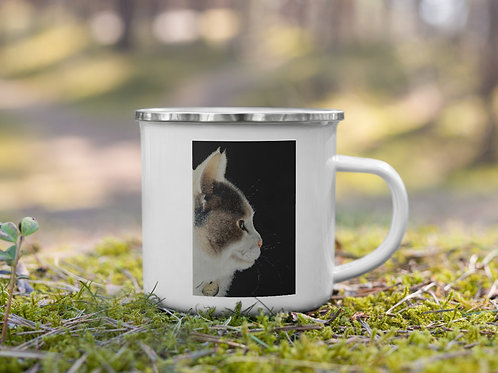 Enamel Mug with my original 'Lumi' artwork