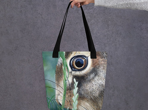 Tote bag with my original 'Nut Brown Hare' artwork