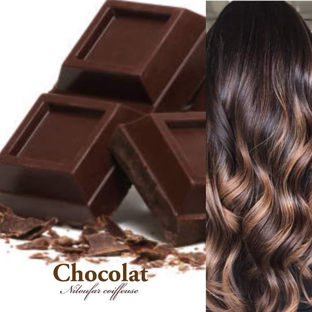 niloufar coiffeuse.ombré checolat