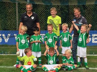 SV Burlo G1 (Bambini-Kicker) beim ersten Auftritt in dieser Saison in Gemen