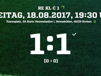 2. Mannschaft SV Burlo spielt 1:1 beim Heimdebüt
