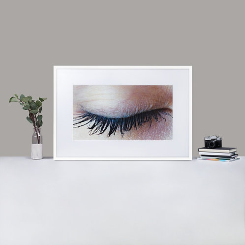 Matte Paper Framed Eye Poster With Mat