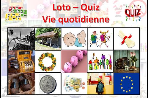 Concept Loto / Quiz - Plaisirs d'antan - Vie quotidienne