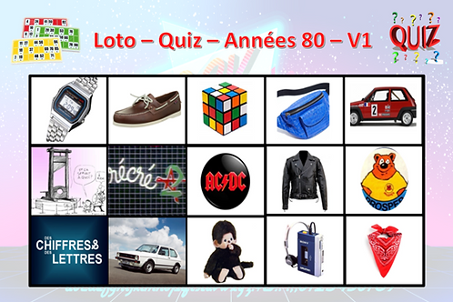 Concept Loto / Quiz - Années 80 (volume 1)