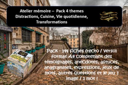 Atelier mémoire - Pack 4 thèmes