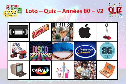 Concept Loto / Quiz - Années 80 (volume 2)