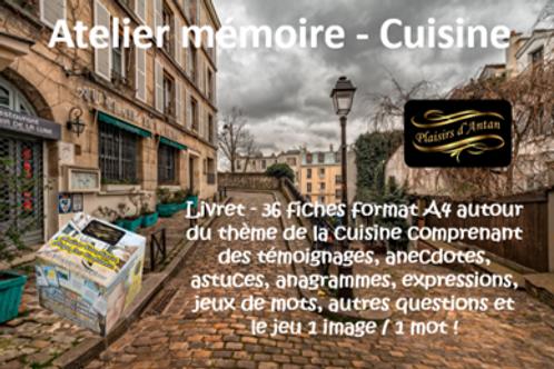 Atelier mémoire Plaisirs d'antan -  cuisine