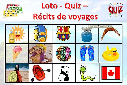 Concept Loto / Quiz - Récits de voyages