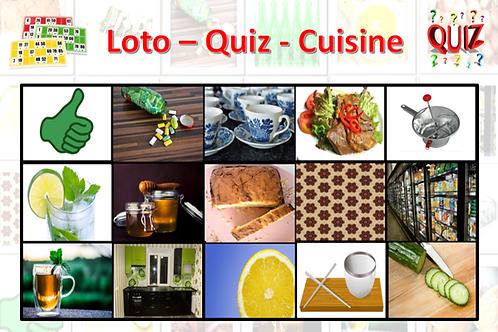 Concept Loto / Quiz - Plaisirs d'antan - Cuisine