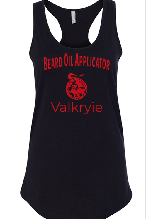 "Ladie's ""Beard Oil Applicator"" Racer Tank"