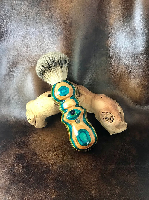 Recycled Skateboard and Shave Brush