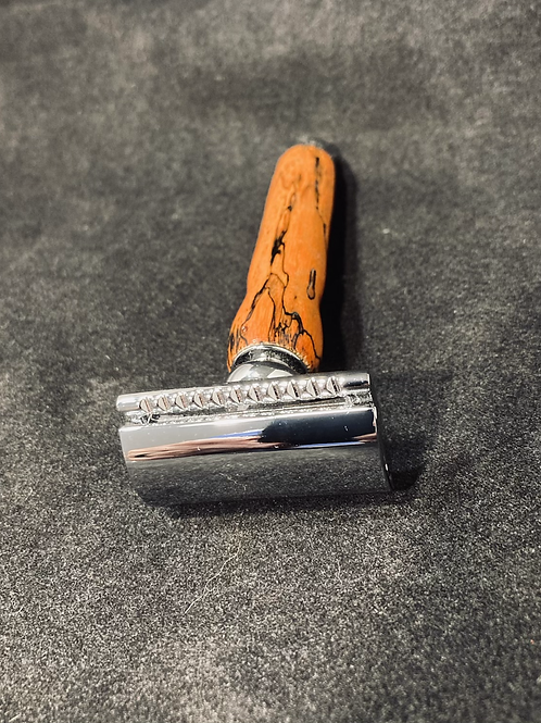 Orange Spalted Tamarind Safety Razor