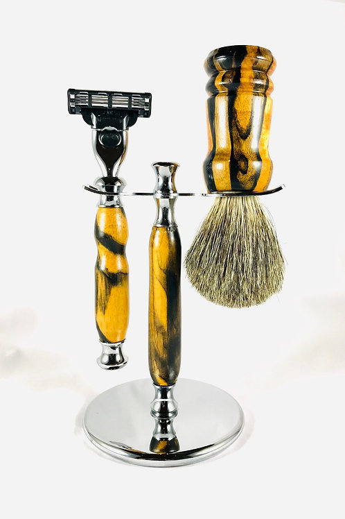 Black & White Ebony Shave Set